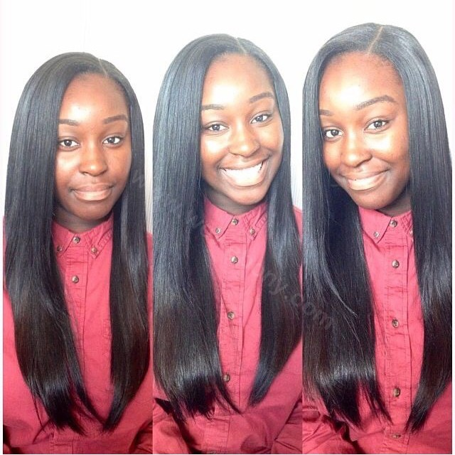 Lace Front Wigs Peruvian Virgin Human Hair Light Yaki Straight