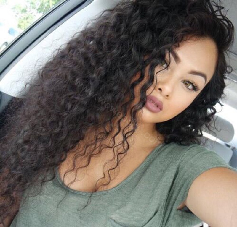 Glueless Full Lace Wigs Peruvian Virgin Hair Loose Curly