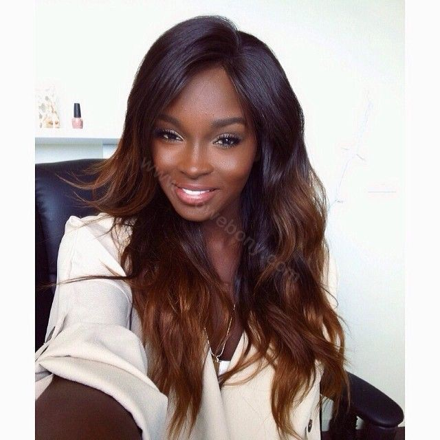 Glueless Lace Front Wigs Peruvian Virgin Hair Ombre Wigs Natural To #30