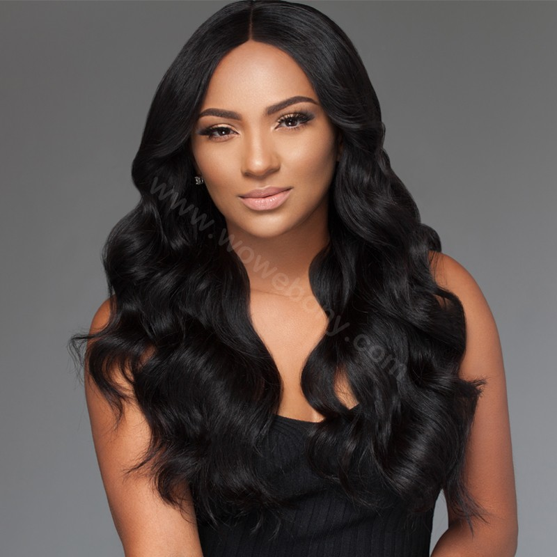 Glueless Full Lace Wigs Indian Remy Hair Body Wave