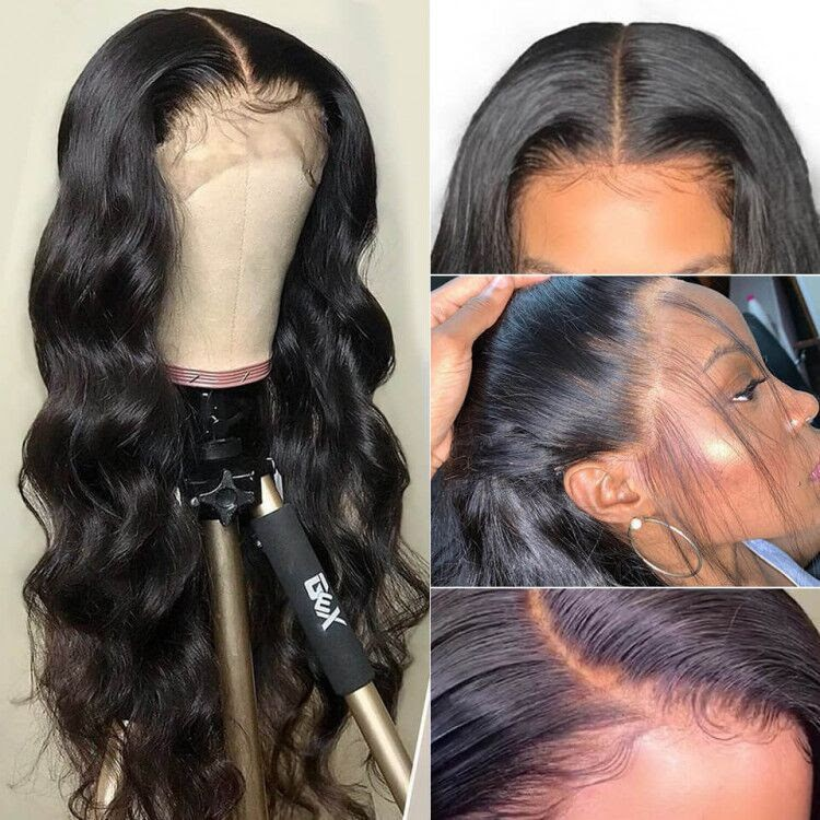 WoWEbony Invisible HD Transparent Single Knots Indian Remy Hair Body Wave Lace Front Wigs [HDSS02]