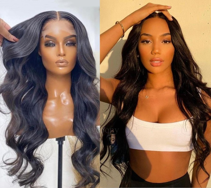 WowEbony Indian Remy Hair LovelyBryana Inspired Wave Lace Front Wigs [DLFW06]