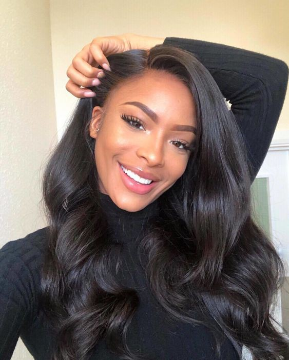 Stocked WowEbony Human Hair 20inches Body Wave Curve T Part Glueless Lace Wigs [Curve17]