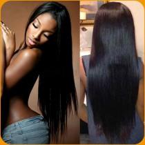 Full Lace Wigs Brazilian Virgin Hair Yaki Straight In Stock [FW29]
