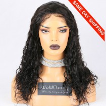 Same Day Shipping Clearance Sale 18 inches Full Lace Wigs Malaysian Virgin Hair #1B Color 130% Density Medium cap size Malaysian Curl