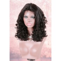 220% Density Double Drawn 4.5 inch Deep Part Lace Front Wigs Indian Remy Hair Scarlett Curl