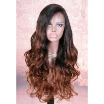 4.5inch Deep Part Lace Front Wigs Indian Remy Hair Ombre Color Thick Wavy [IR4.5DPLFOM1]