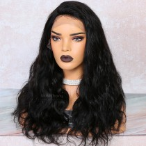 WowEbony 4.5 inch Deep Part High Density Yaki Straight Lace Front Wigs 250% Density, Indian Remy Hair [IR4.5LFYK2]