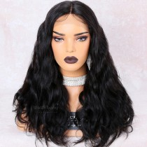 WowEbony 250% Density Body Wave Glueless Lace Part Lace Wig Indian Remy Hair [LPLW14]