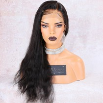 Advanced Pre bleached knots, Pre Plucked 360 Lace Wigs, Natural Straight, 150% density, Indian Remy Hair [A360NS01]