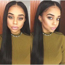 Silk Base 4*4 Full Lace Wigs Indian Human Hair Straight