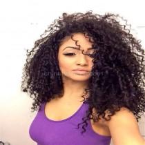 Full Lace Wigs Brazilian Virgin Hair 10mm Curl
