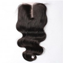 Brazilian Virgin Human Hair 4*4 Popular Lace Closure Body Wave Natural Hair Line and Baby Hair [BVBWTC]