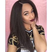 Glueless Full Lace Wigs Brazilian Virgin Hair Italian Yaki Straight