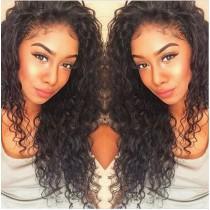 Glueless Full Lace Wigs Malaysian Virgin Hair Loose Curly