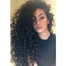Glueless Full Lace Wigs Indian Remy Hair High Density Curly