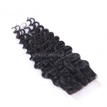 Brazilian Virgin Human Hair 4*4 Popular Lace Closure Deep Wave Natural Hair Line and Baby Hair [BVDWTC]