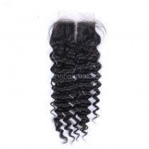 Popular Malaysian Virgin Human Hair 4*4  Lace Closure Deep Wave Natural Hair Line and Baby Hair [MVDWTC]
