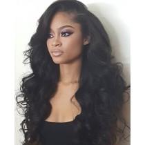 Glueless Full Lace Wigs Peruvian Virgin Hair Big Body Wave