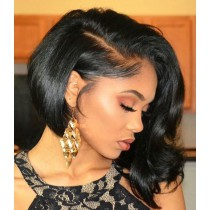 Glueless Lace Front Wigs Indian Remy Hair Bob Wig Bob Hair Cut