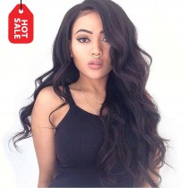 Full Lace Wigs Brazilian Virgin Hair Big Body Wave