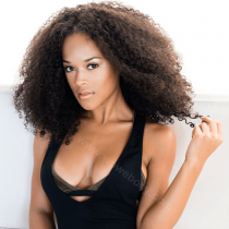Serayah Style Lace Front Wigs Brazilian Virgin Human Hair Afro Curl