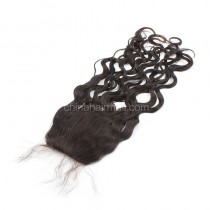 Malaysian Virgin Human Hair 4*4 Popular Silk Base Lace Closure Loose Wave Natural Hair Line and Baby Hair [MVLWSTC]