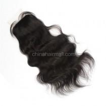 Brazilian Virgin Human Hair 4*4 Popular Silk Base Lace Closure Natural Wave Natural Hair Line and Baby Hair [BVNWSTC]