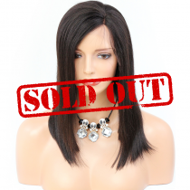 Brazilian Virgin Glueless Lace Front Wigs, 14 inches,  Medium Cap Size, Natural Color [CLFW08] Sold Out