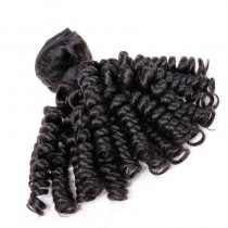 Peruvian virgin human hair wefts Bouncy Curly 1 pc a lot unprocessed natural color 95g/pc [PVBC01]