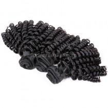Brazilian virgin unprocessed human hair wefts Bouncy Curly 3 pieces a lot 95g/pc [BVBC03]