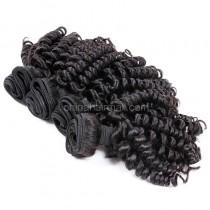 Brazilian virgin unprocessed human hair wefts Bouncy Curly 4 pieces a lot  95g/pc  [BVBC04]