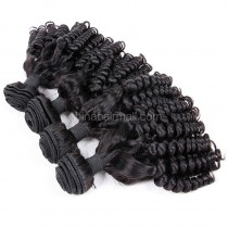 Malaysian virgin unprocessed natural color human hair wefts Funmi Curly 4 pieces a lot  95g/pc  [MVFC04]