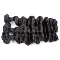 Peruvian virgin unprocessed natural color human hair wefts Romance Curly 3 pieces a lot Hair Bundles 95g/pc [PVRC03]