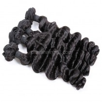 Malaysian virgin unprocessed natural color human hair wefts Romance Curly 4 pieces a lot  95g/pc  [MVRC04]