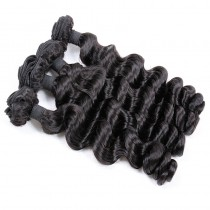 Peruvian virgin unprocessed human hair wefts Natural Color Romance Curly 4 pieces a lot  95g/pc  [PVRC04]