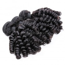 Brazilian virgin unprocessed human hair wefts Spiral Curly 3 pieces a lot Hair Bundles 95g/pc [BVSC03]