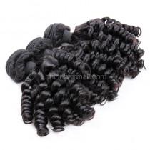 Brazilian virgin unprocessed human hair wefts Spiral Curly 3 pieces a lot Hair Bundles 95g/pc [BVSC03]