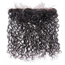 Malaysian Virgin Human Hair 13*4 Popular Lace Frontal Water Wave Natural Hair Line and Baby Hair [MVWWLF]