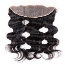 Peruvian Virgin Human Hair 13*4 Popular Lace Frontal Body Wave Natural Hair Line and Baby Hair [PVBWLF]
