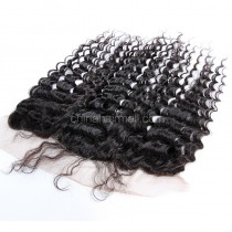 Brazilian Virgin Human Hair 13*4 Popular Lace Frontal Deep Wave Natural Hair Line and Baby Hair [BVDWLF]