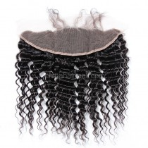 Peruvian Virgin Human Hair 13*4 Popular Lace Frontal Deep Wave Natural Hair Line and Baby Hair [PVDWLF]