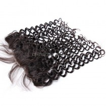 Brazilian Virgin Human Hair 13*4 Popular Lace Frontal Candy Curly Natural Hair Line and Baby Hair [BVCCLF]