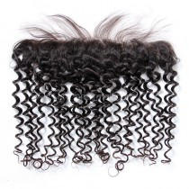 Malaysian Virgin Human Hair 13*4 Popular Lace Frontal Candy Curly Natural Hair Line and Baby Hair [MVCCLF]