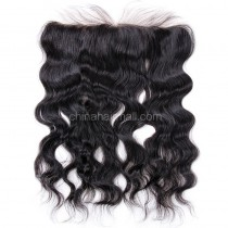 Malaysian Virgin Human Hair 13*4 Popular Lace Frontal Natural Wave Natural Hair Line and Baby Hair [MVNaWLF]