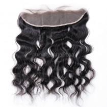 Malaysian Virgin Human Hair 13*4 Popular Lace Frontal  Natural Hair Line and Baby Hair Natural Wave[MVNWLF]