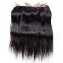 Malaysian Virgin Human Hair 13*4 Popular Lace Frontal Yaki Straight Natural Hair Line and Baby Hair [MVYKLF]