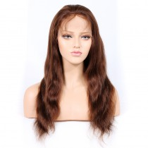 #4/30 Highlight Color Lace Front Wigs Indian Remy Hair Natural Straight [HLLFW07]
