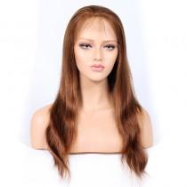 #30 Color Lace Front Wigs Peruvian Virgin Human Hair Natural Straight [BLLFW01]