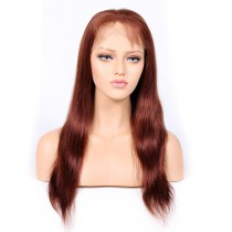 WowEbony Blonde #33 Color Glueless Full Lace Wigs Peruvian Virgin Hair Natural Straight [GBLFW02]